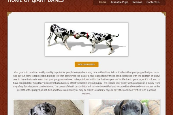 Royalgreatdanesempire.com - Great Dane Puppy Scam Review