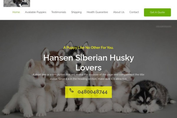 Hansensiberinhuskylovers.com - Husky Puppy Scam Review